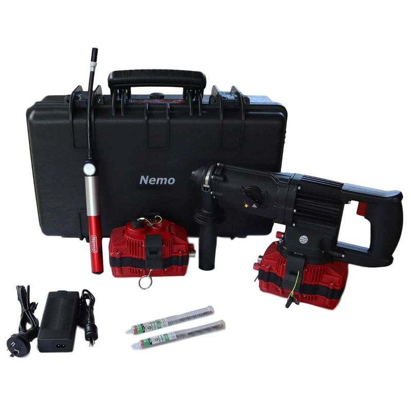 Nemo 22v Underwater SDS Rotary Hammer Drill Kit 50m With 2 x 3Ah Batteries